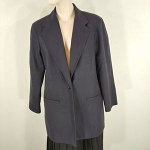 requirements womens new wool blazer blue size 8